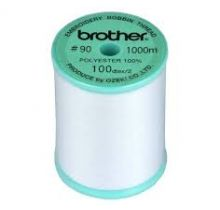 Fil de canette blanc Brother pour machine à broder seule