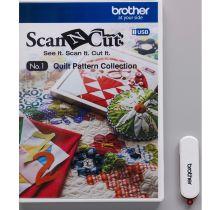 USB n° 1 Collection de motifs de quilting (courtepointe) ScanNcut