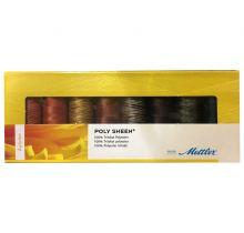 Coffret de 8 fils à broder multicolores Mettler-coffret Autumn