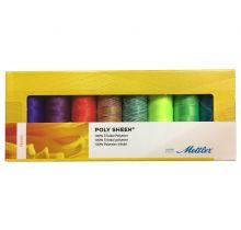 Coffret de 8 fils à broder multicolores Mettler-coffret Neon