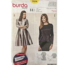 Patron Burda 7034 robe et blouse