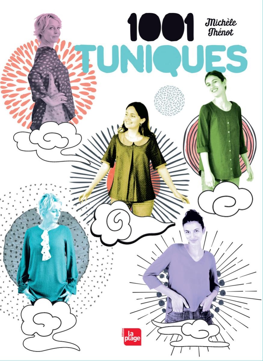 couverture-livre-couture-michele-thenot-1001-tuniques-editions-la-plage