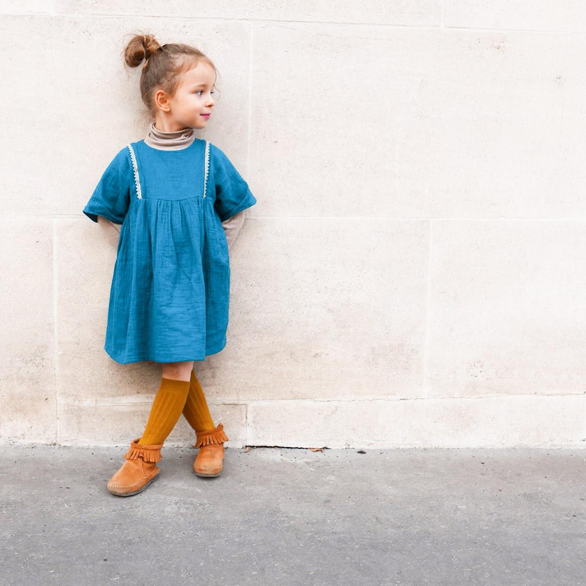 Patron de couture enfant Robe Sakura Ikatee